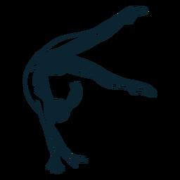 Personaje de gimnasta femenina en blanco y negro