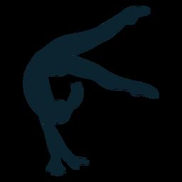 Silueta de gimnasta femenina