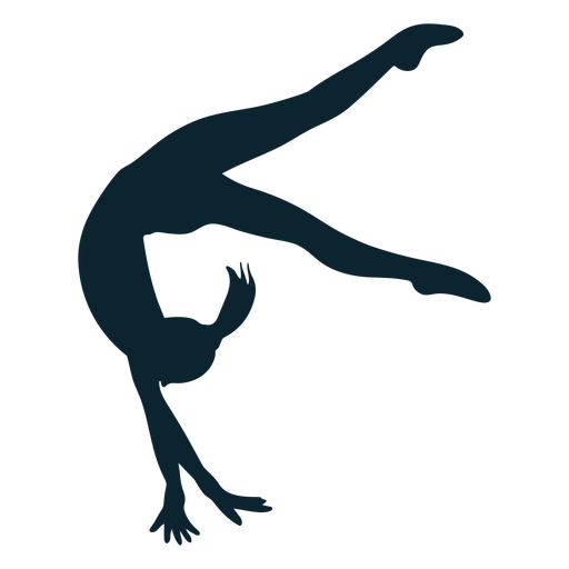 Female gymnast silhouette Transparent PNG