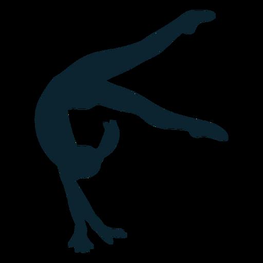Female gymnast silhouette