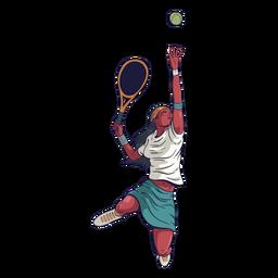 Carácter de jugador de tenis femenino