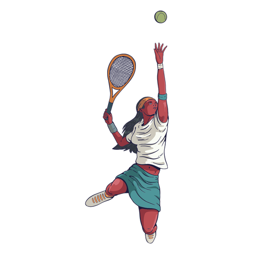 Female tennis player character Transparent PNG