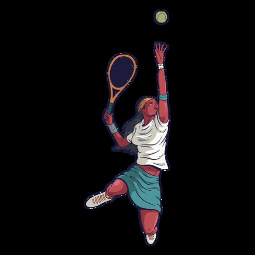 Personagem jogadora de tênis