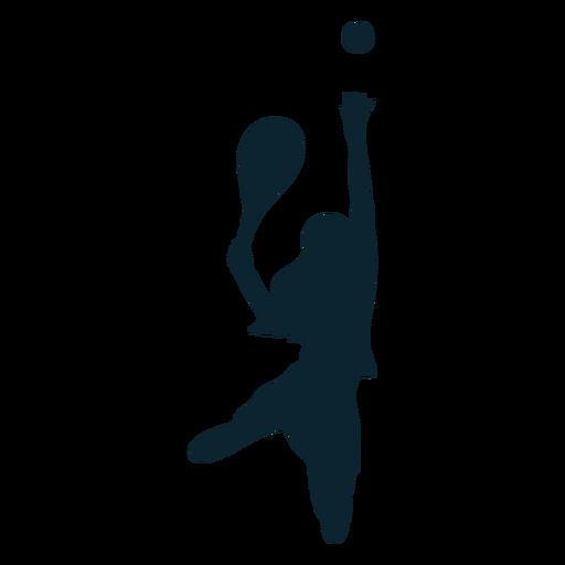 Female tennis player silhouette tennis player