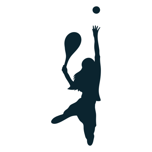 Mujer tenista silueta tenista