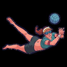 Personaje de jugador de voleibol femenino