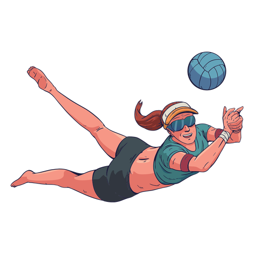 Female volleyball player character
