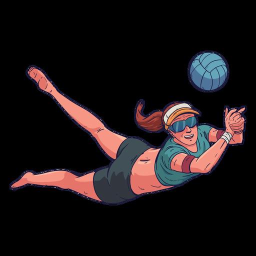 Personagem de jogador de voleibol feminino Transparent PNG