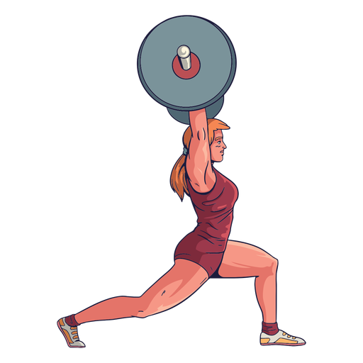 Female weightlifter character