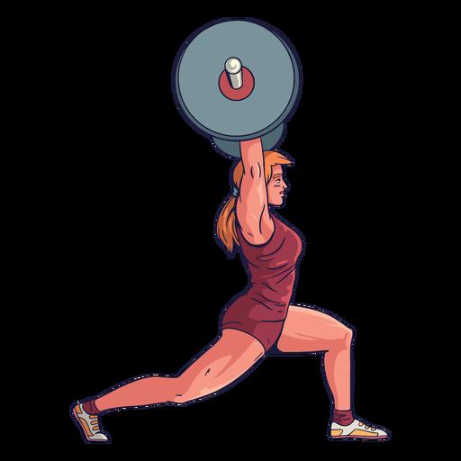 Personaje de levantador de pesas femenino