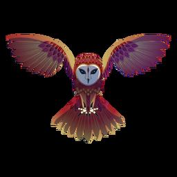 Ilustración de lechuza voladora