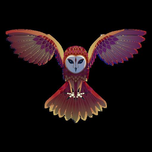 Flying barn owl illustration Transparent PNG