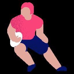 Football player flat football