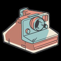 Câmera polaroid desenhada de mão