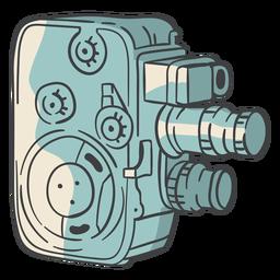 Câmera de filme vintage desenhada de mão