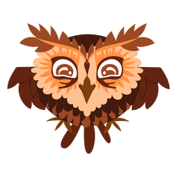 Happy owl illustration