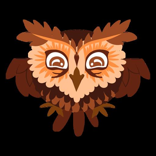 Happy owl illustration Transparent PNG