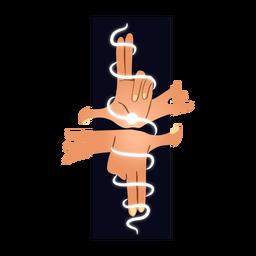 Ilustración manos mágicas
