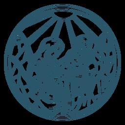 Jesus natividade desenhado à mão