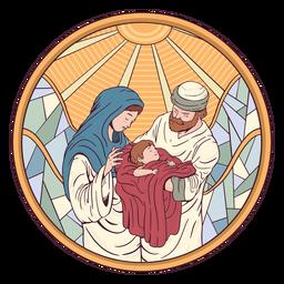 Ilustração da natividade de Jesus