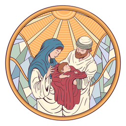 Jesus nativity illustration