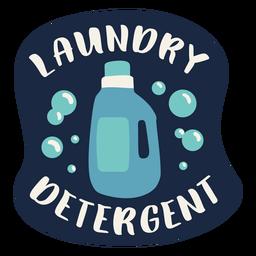 Etiqueta de detergente para ropa plana