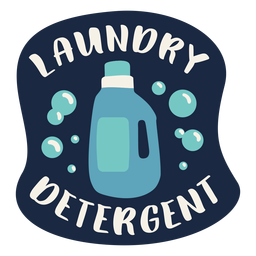 Laundry detergent label flat