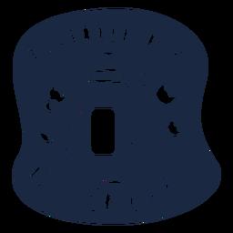 Laundry detergent label blue