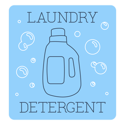 Línea de etiquetas de detergente para la ropa