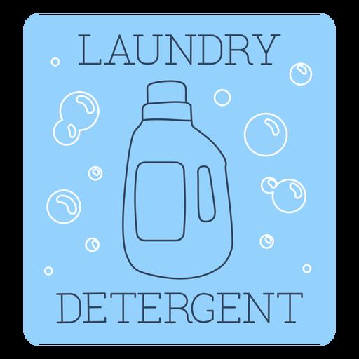 Línea de etiquetas de detergente para ropa