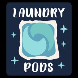 Laundry pods label flat