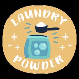 Laundry powder label flat