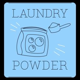 Laundry powder label line