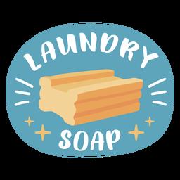 Laundry soap label flat