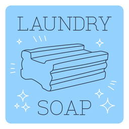 Línea de etiquetas de jabón de lavandería