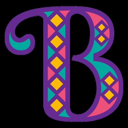 Letter b mardi gras Transparent PNG