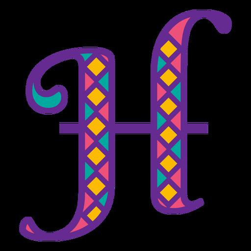 Letter h mardi gras Transparent PNG