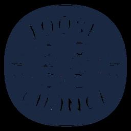 Etiqueta de cambio suelta azul