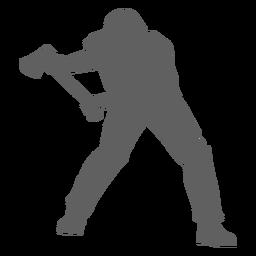 Lumberjack axe silhouette