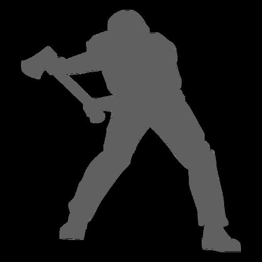 Lumberjack axe silhouette Transparent PNG