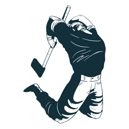 Lumberjack in action character blue Transparent PNG