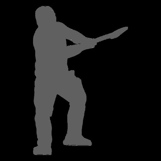 Leñador con silueta de hacha