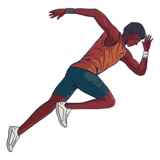 Male athlete character