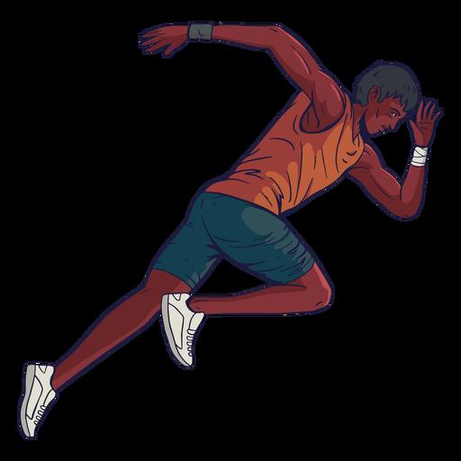Personaje de atleta masculino