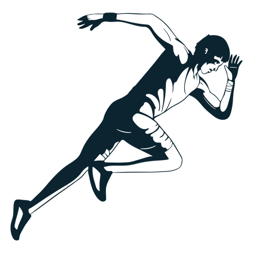 Atleta masculino em preto e branco