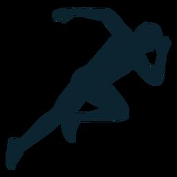 Male athlete silhouette athlete