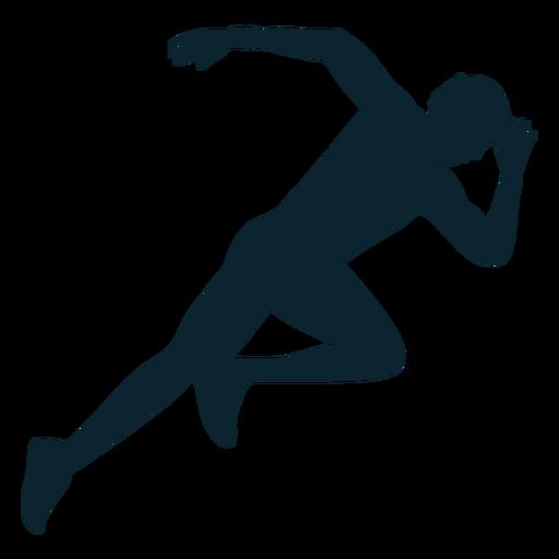 Atleta de silhueta de atleta masculino