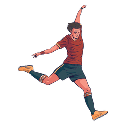 Male soccer player character