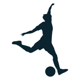 Male silhouette soccer player