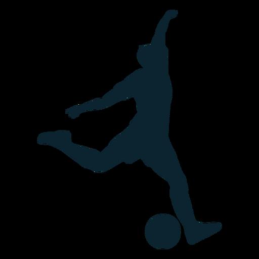 Jogador de futebol de silhueta masculina